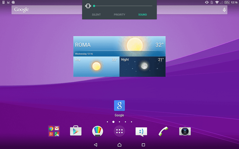 AndroidPIT-Sony-Xperia-Z4-Tablet-home-screen-volume-w782