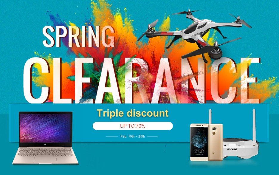 """Акция-распродажа """"Spring Clearance"""" в магазине Banggood"""