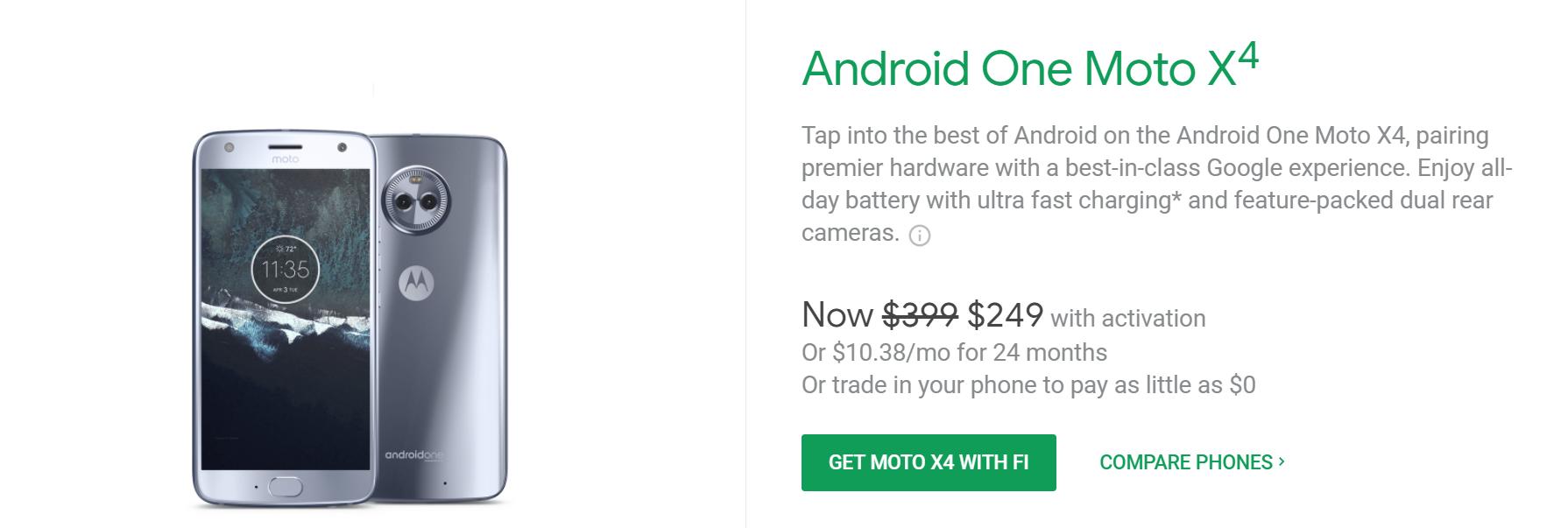 Moto X4 Android Одна цена