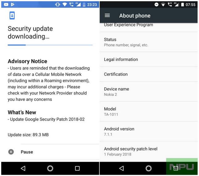 Обновление обновления безопасности Nokia 2 февраля