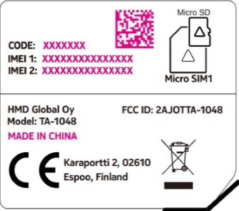 Nokia-4-FCC-Label-TA-1048-из-FCC
