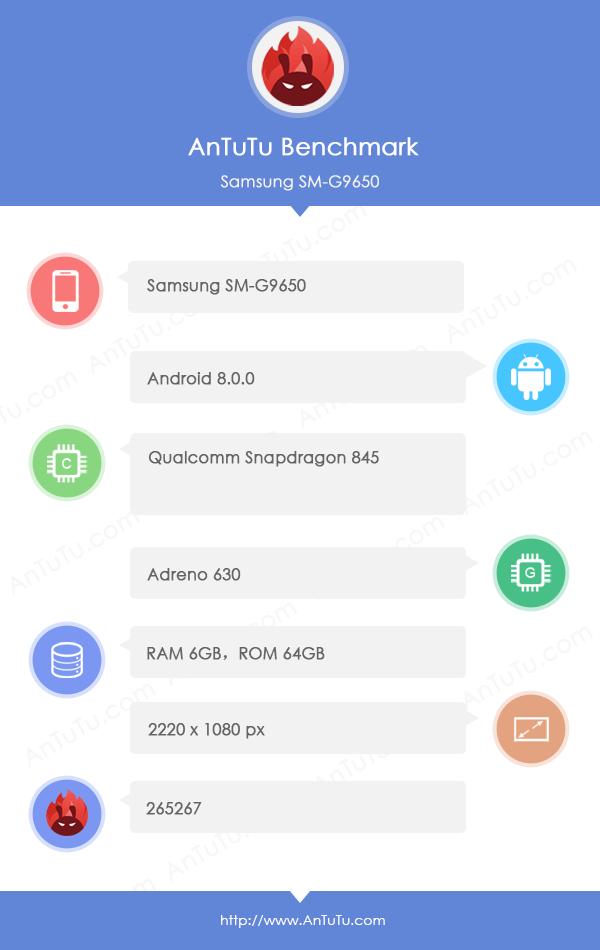 Samsung Galaxy S9 + AnTuTu