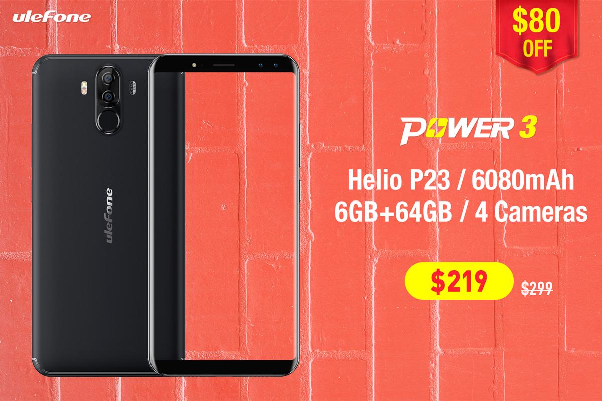 Ulefone Power 3 и Power 3S поступил в продажу
