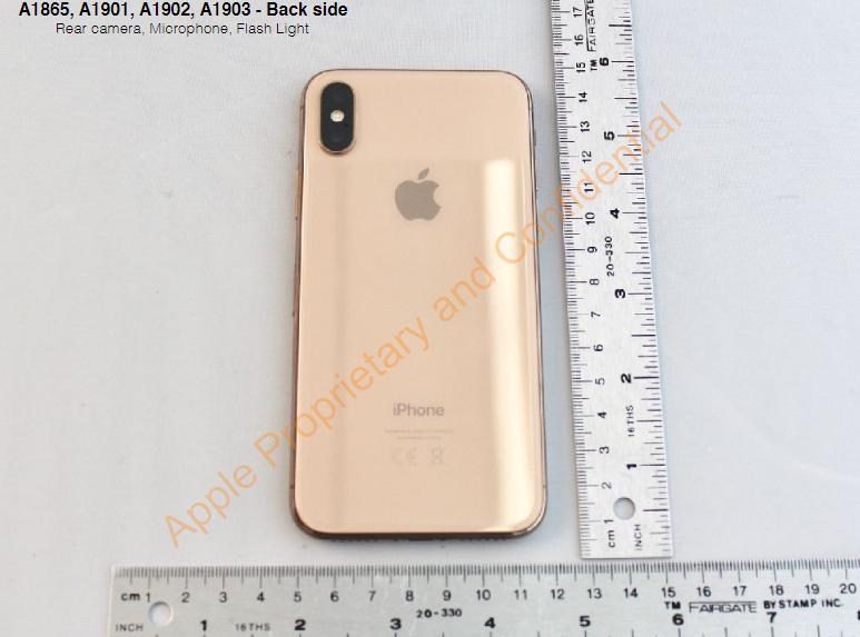 Blush Gold iPhone X сзади