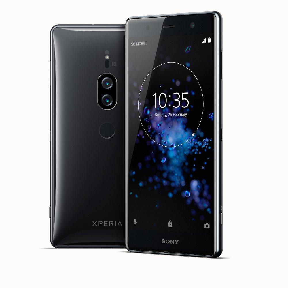 Sony-Xperia-xz2-Premium-хром-черный