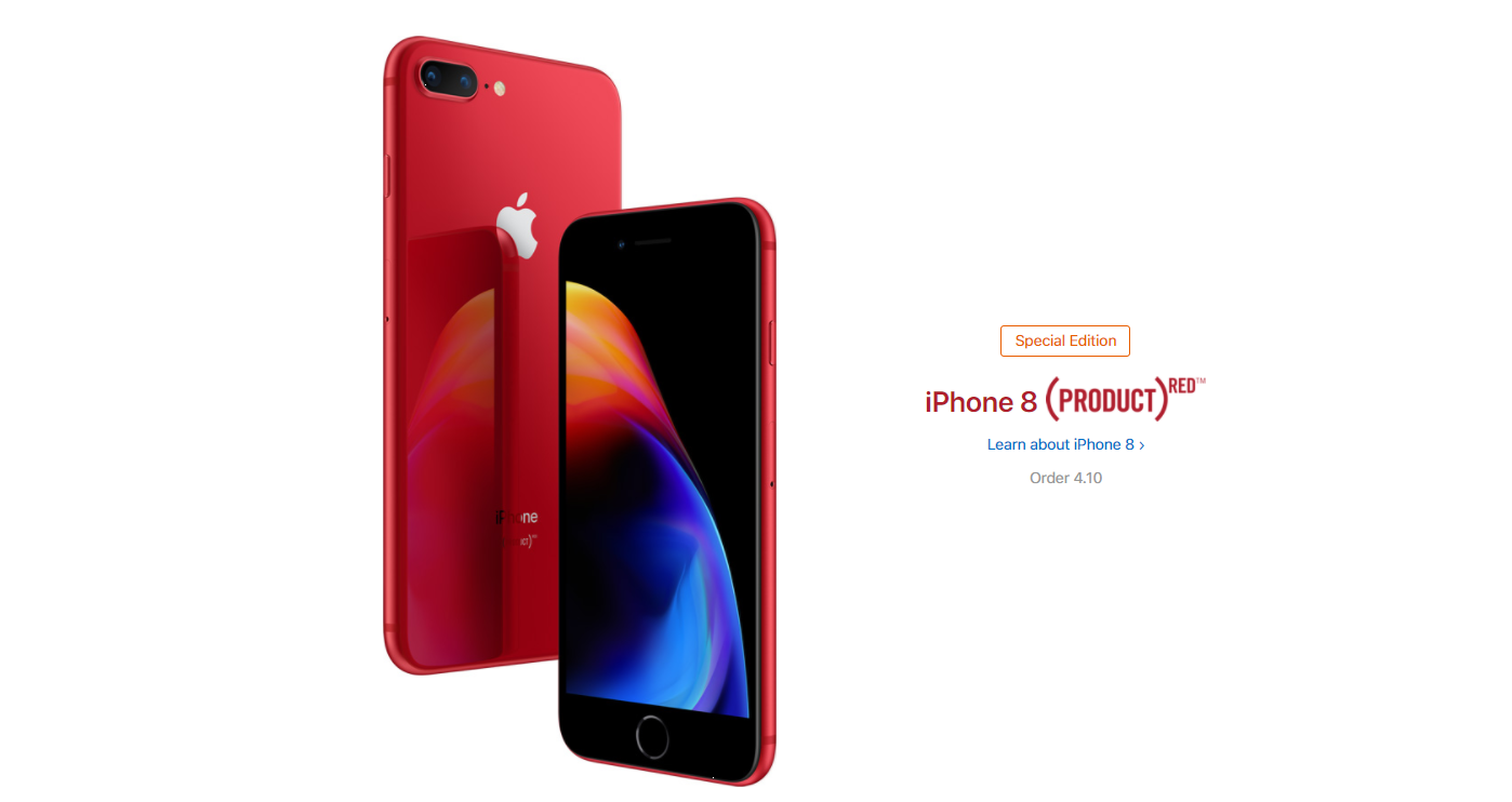 iPhone 8 и iPhone 8 Plus Red