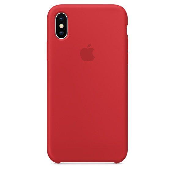 iPhone X Продукт Красный силиконовый чехол