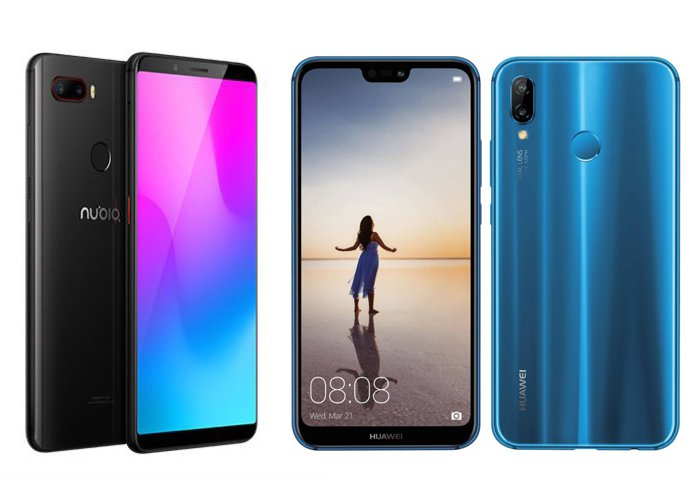 nubia z18 mini vs huawei p20 lite