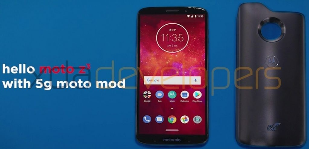 Reproducción Moto Z3 con 5G Moto Mod
