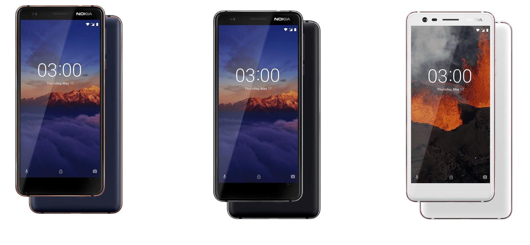 Варианты цвета Nokia 3.1