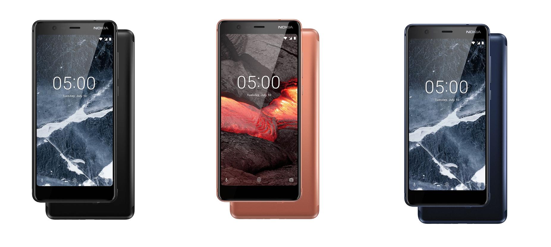 Варианты цвета Nokia 5.1