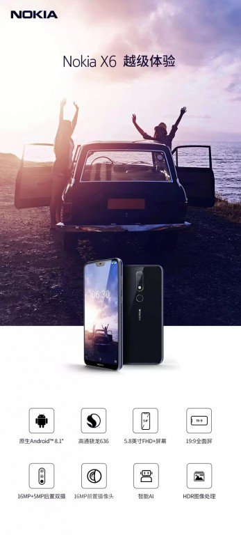 Рекламные изображения Nokia X6