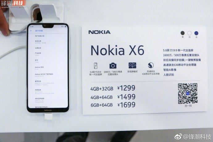 Price Nokia X6