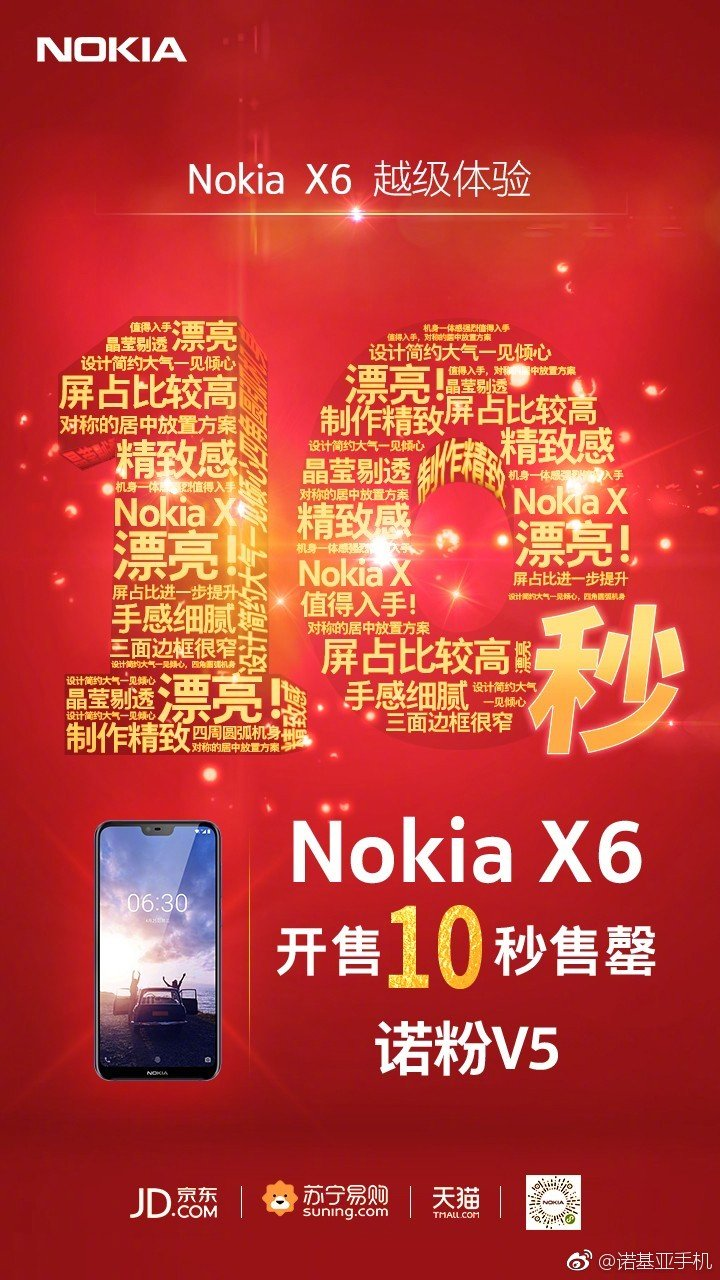 Nokia X6 продается за 10 секунд