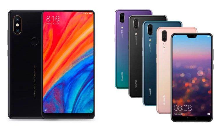 Xiaomi mi Mix 2s vs Huawei p20
