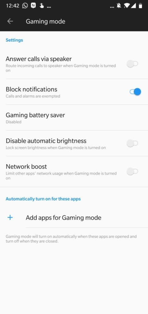 Game Mode OnePlus 6