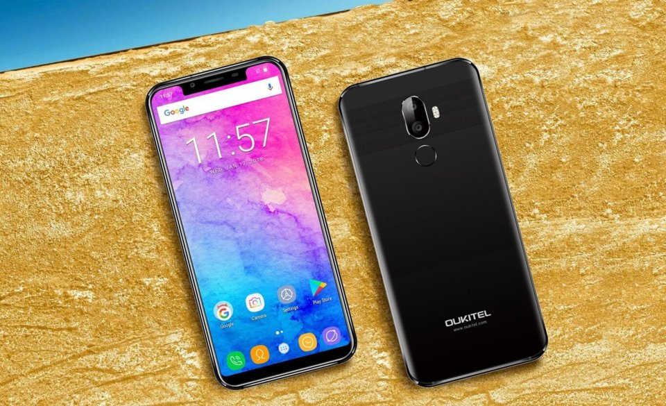 Het begin van de mega-verkoop van smartphones Oukitel op GearBest