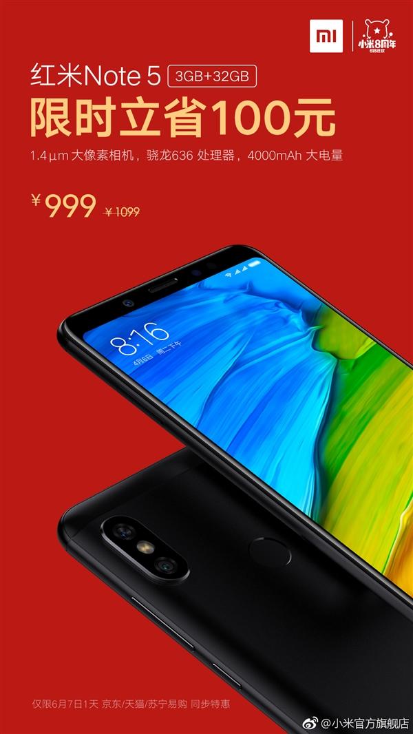 Xiaomi Redmi Note 5 Prijsreductie China 0