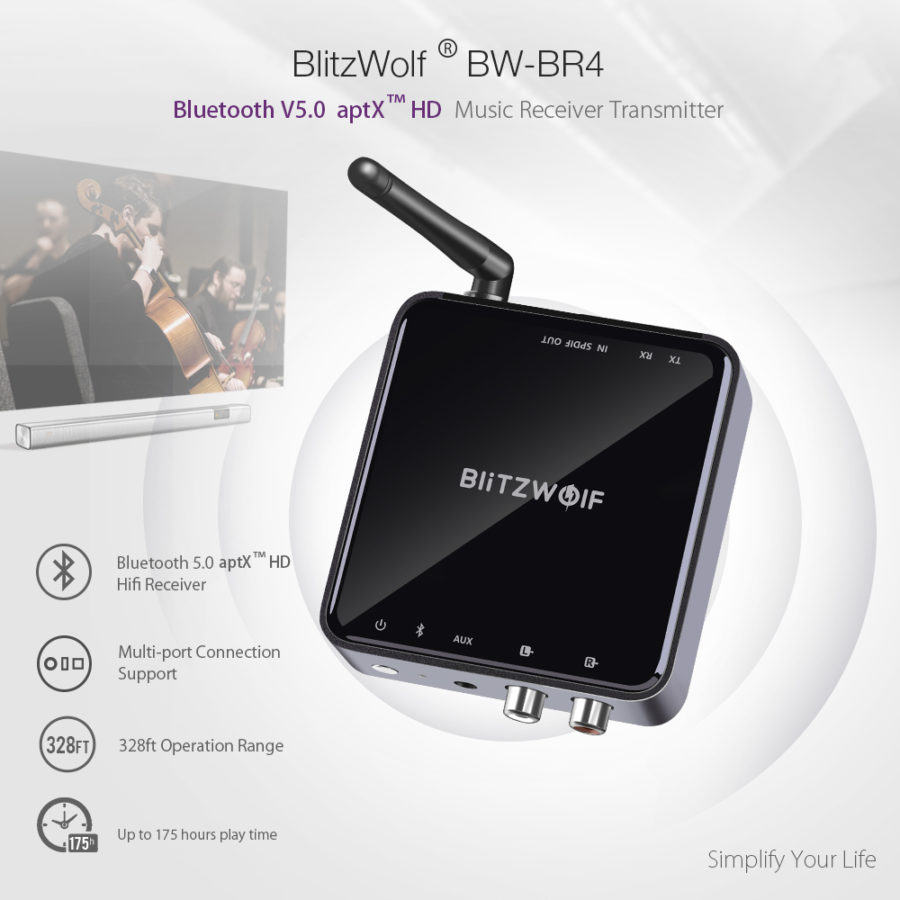 Musikempfänger BlitzWolf BW-BR4