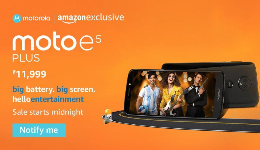 Moto E5 Plus Amazon Индия