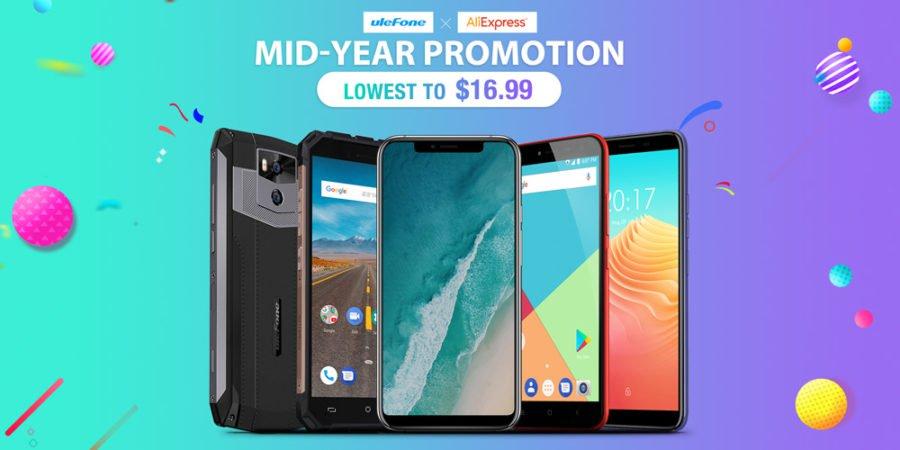 "Распродажа ""Mid-Year"" от Ulefone и AliExpress"