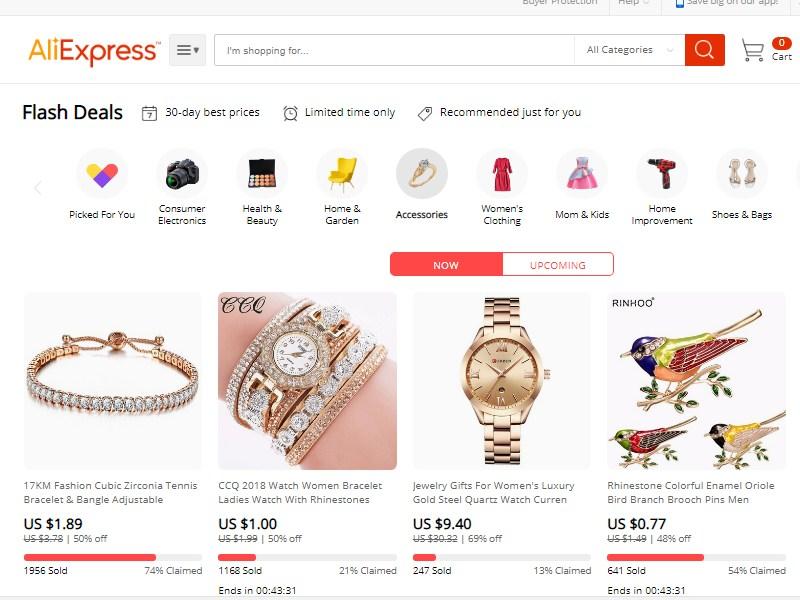 Очередная распродажа августа на AliExpress - скидки до 72%