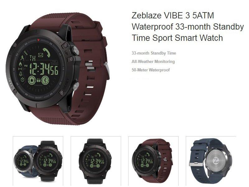 Часы ZEBLAZE VIBE 3 Sports