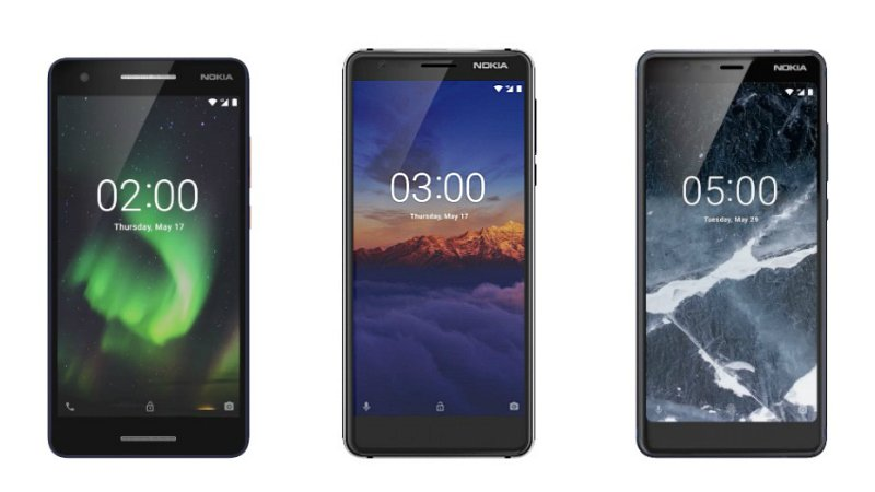 HMD Global's Nokia 5.1, Nokia 3.1, Nokia 2.1
