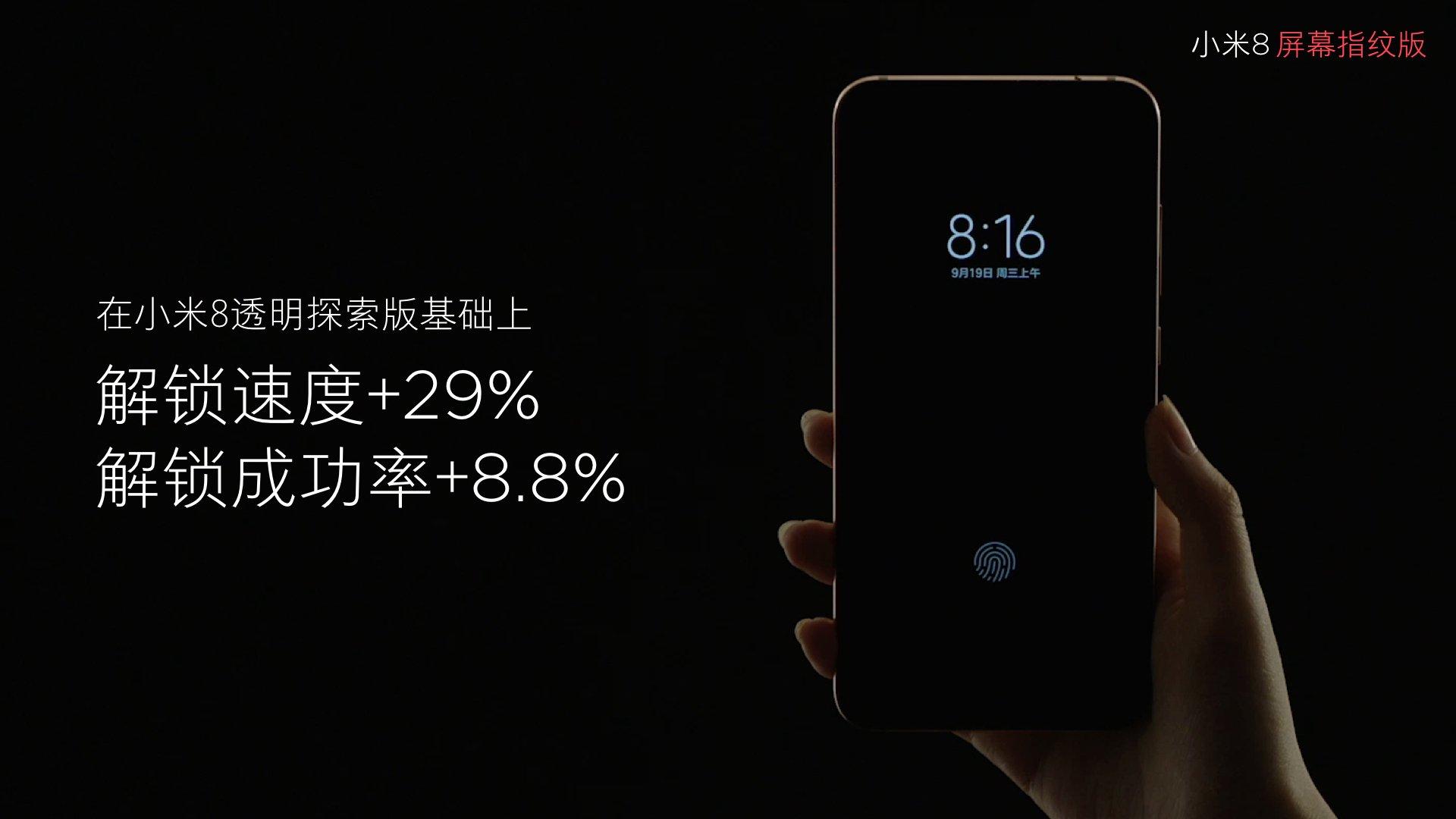 Edição Xiaomi Mi 8 Pro Screen Fingerprint
