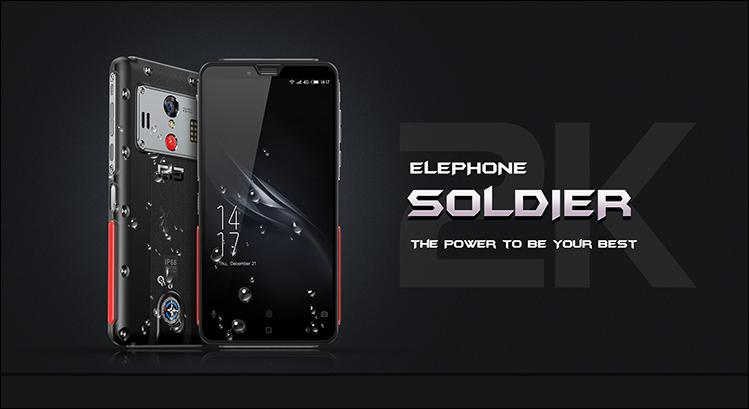 Elephone Soldier - прочный телефон с IP68