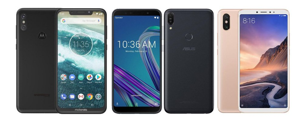 Motorola One Power против Asus Zenfone Max Pro M1 vs Xiaomi Mi Max 3