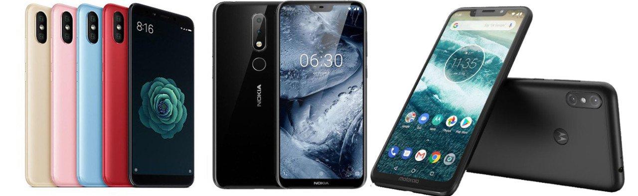 Xiaomi Mi A2 vs. Nokia 6.1 Plus vs Motorola One Power
