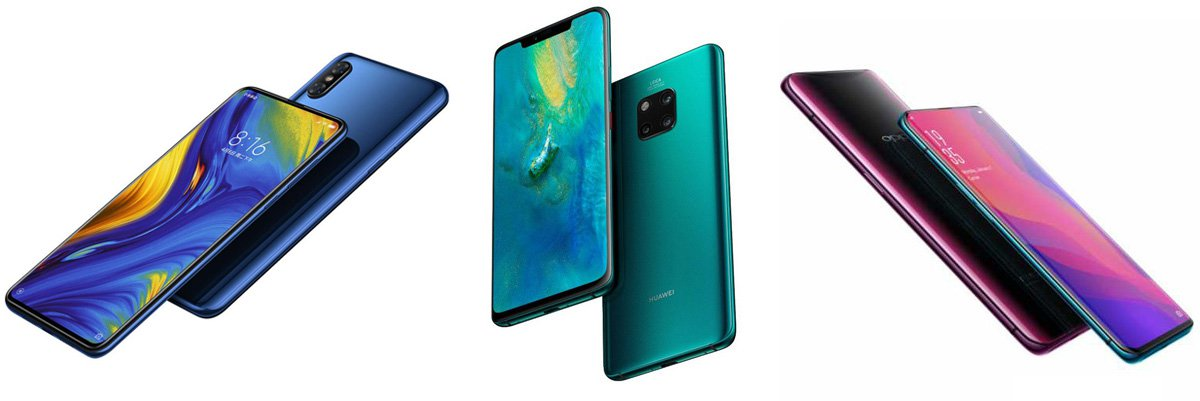 Xiaomi Mi Mix 3 против Huawei Mate 20 Pro против Oppo Find X