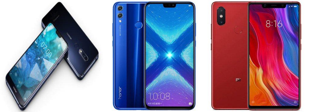 Nokia 7.1 vs Honor View 10 Lite против Xiaomi Mi 8 SE