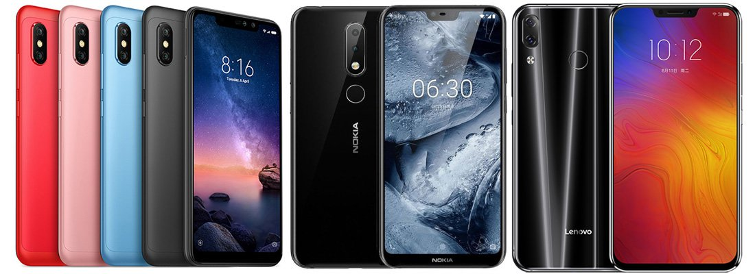 Xiaomi Redmi Note 6 Pro versus Nokia 6.1 Plus versus Lenovo Z5: Feature Comparison