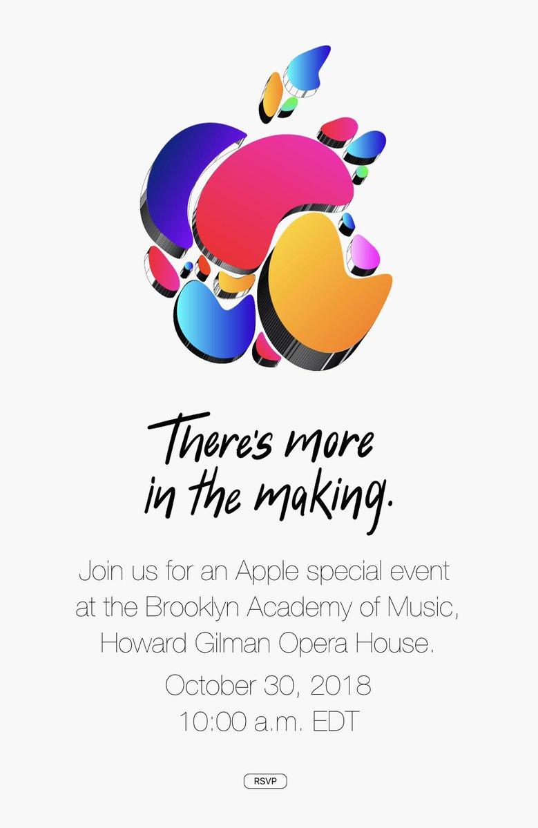 События Apple 30 октября