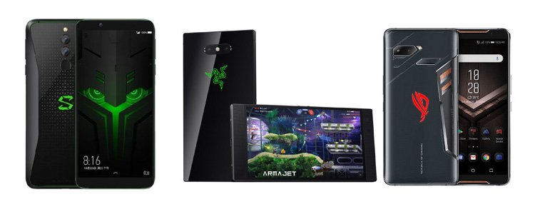 Xiaomi Black Shark Helo против Razer Phone 2 против Asus ROG Phone