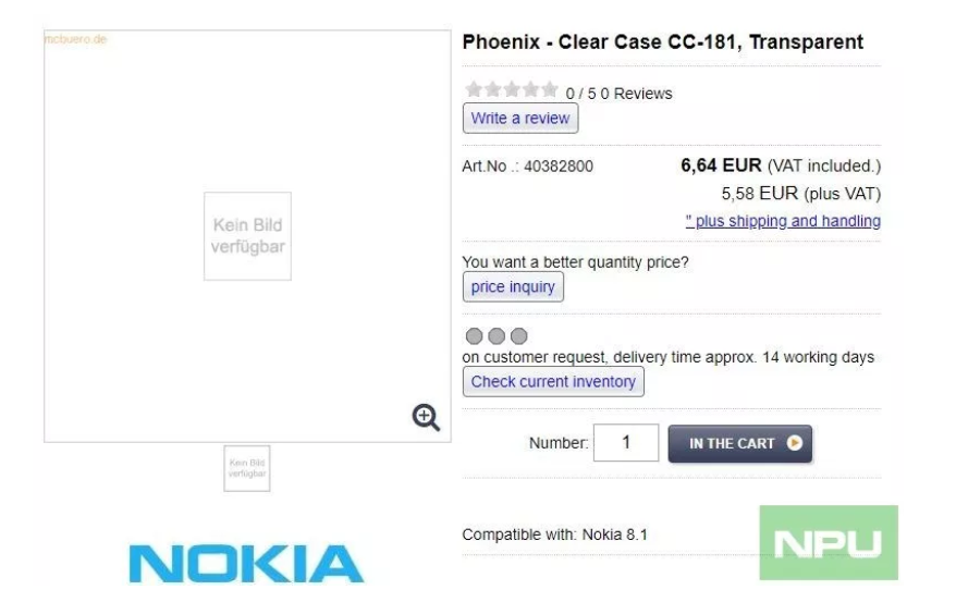 Случай Nokia 8.1