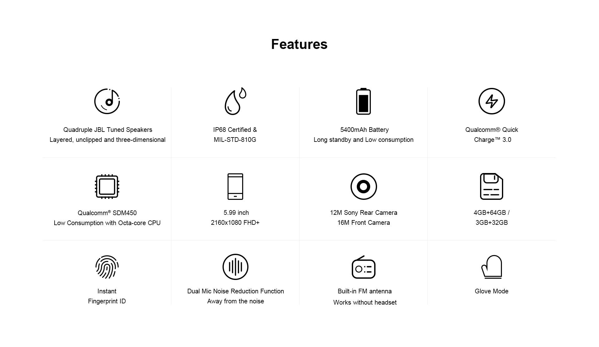 AGM A9 прочный смартфон с динамиками JBL