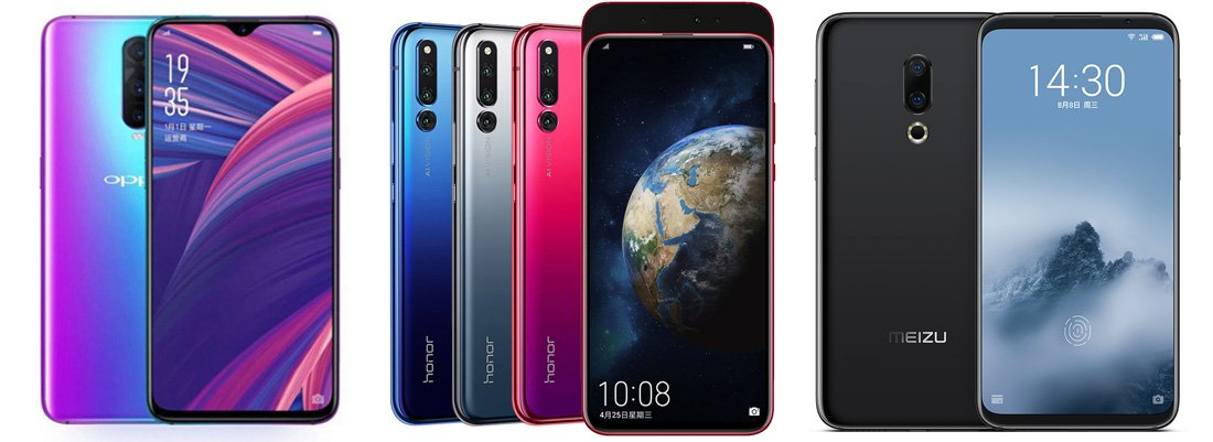 Oppo R17 Pro против Honor Magic 2 против Meizu 16 Plus