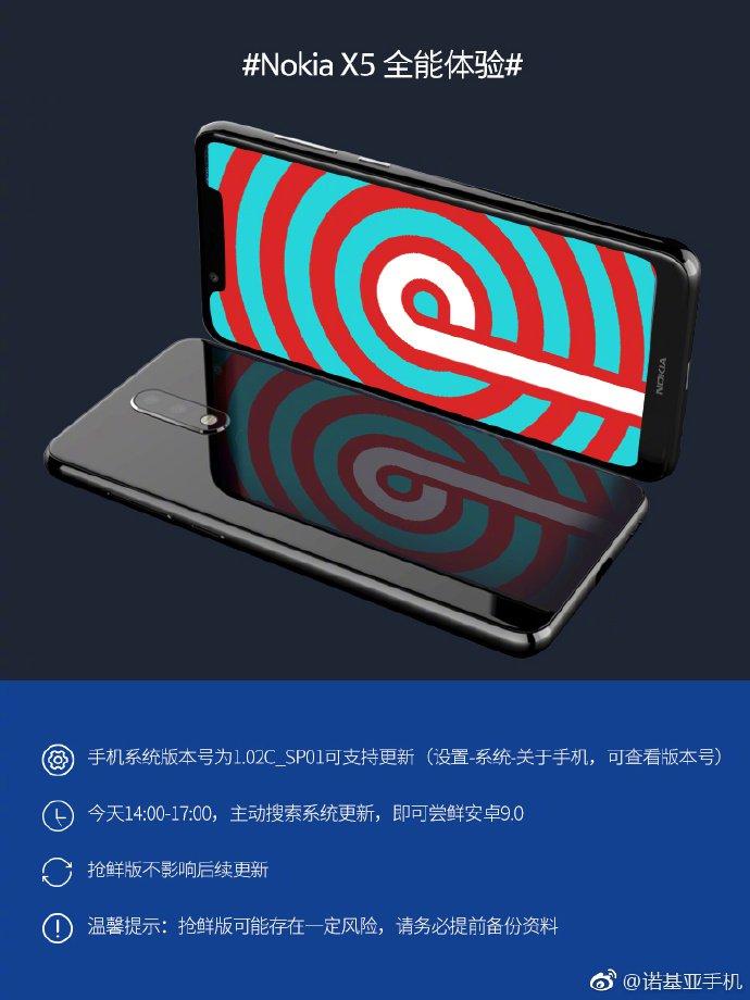 Nokia X5 Android Pie