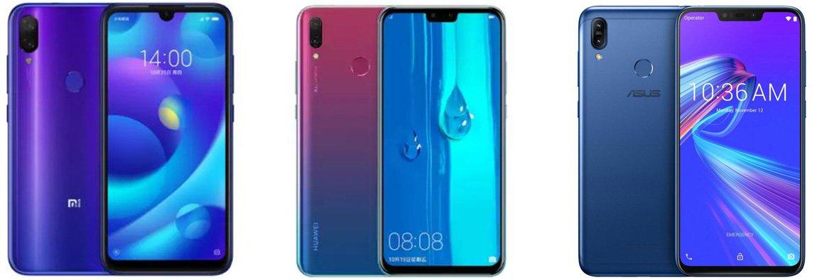 Xiaomi Mi Play против Huawei Enjoy 9 против Asus Zenfone Max (M2)