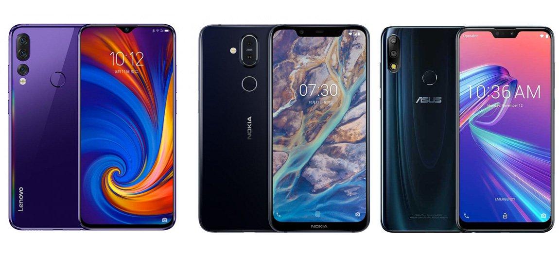 Lenovo Z5s против Nokia X7 против Asus Zenfone Max Pro (M2)