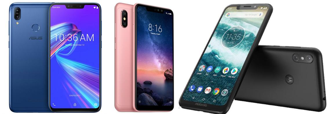 Asus Zenfone Max (M2) против Xiaomi Redmi Note 6 Pro против Motorola One Power: сравнение характеристик