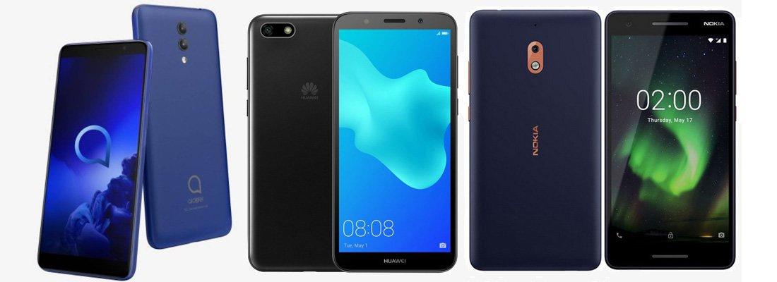 Alcatel 1x (2019) против Nokia 2.1 против Huawei Y5 Lite