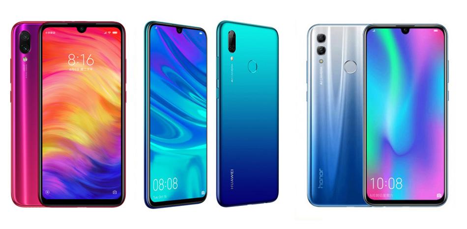 Xiaomi Redmi Note 7 против Huawei P Smart (2019) против Honor 10 Lite: сравнение характеристик