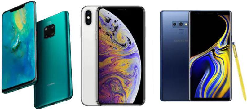 Huawei Mate 20 Pro против iPhone Xs Max против Samsung Galaxy Note 9