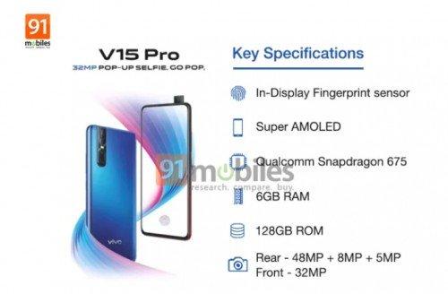 Vivo V15 Pro технические характеристики