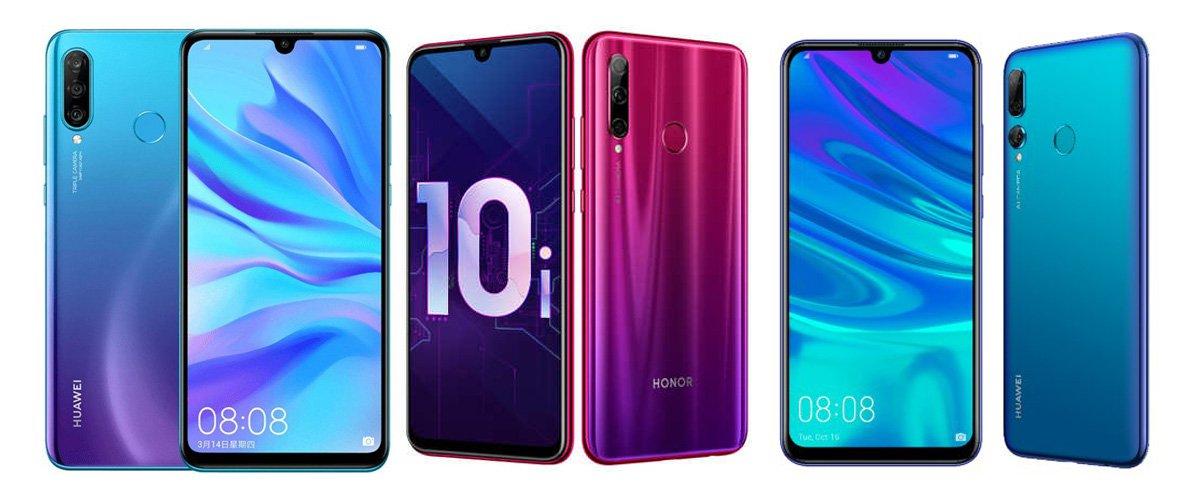 Huawei Nova 4e против Honor 10i против Huawei P Smart + 2019