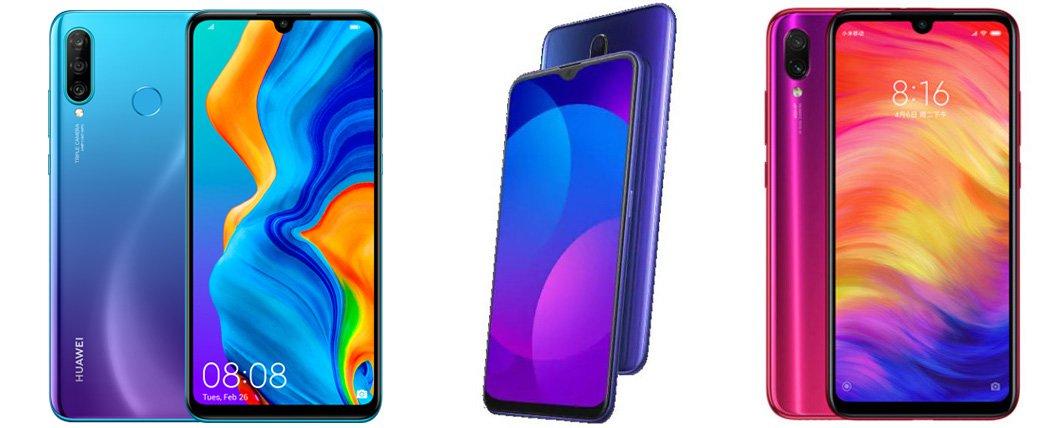 Huawei Nova 4e против Oppo F11 против Redmi Note 7 Pro